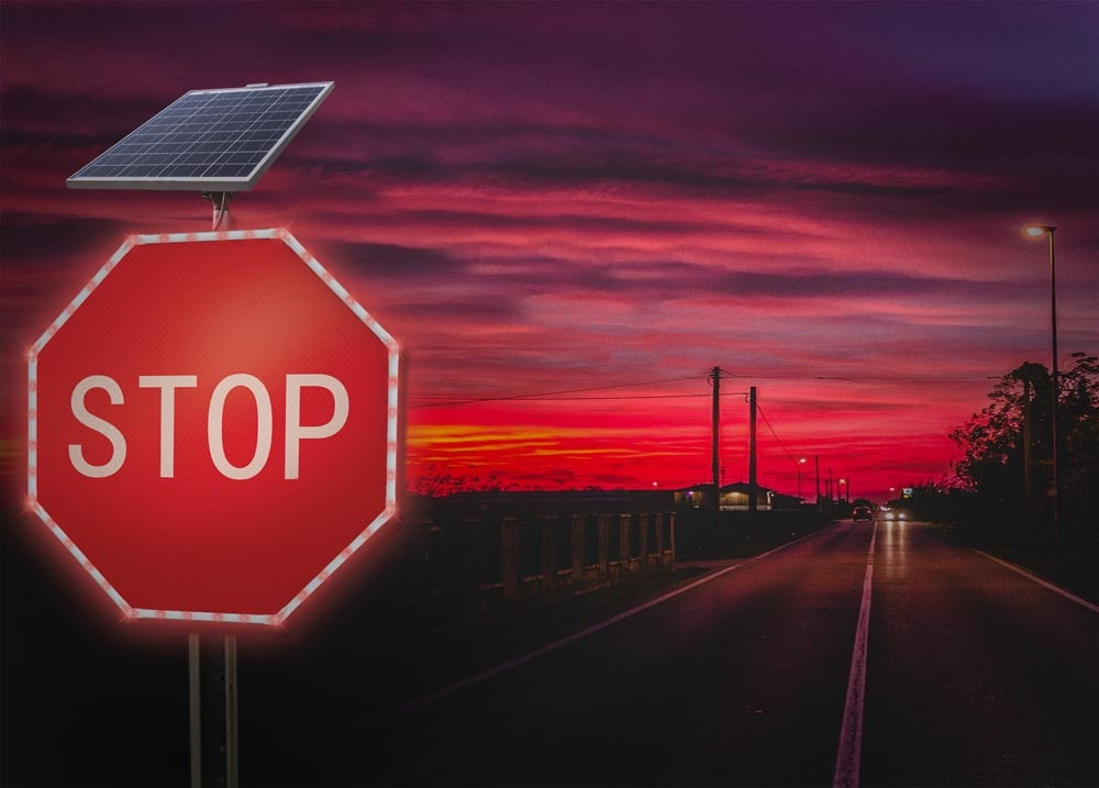 Solar LED Stop 3